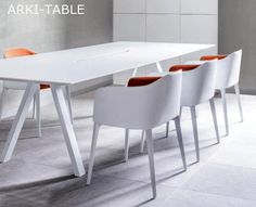Table de travail ARKI-TABLE, 240 x 120 cm, Design by PEDRALI R&D