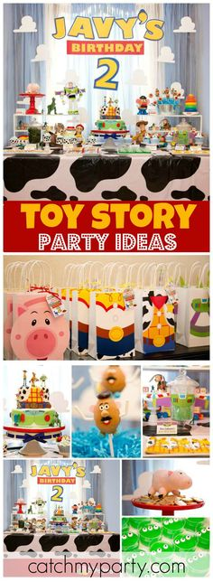This Toy Story party has all the fun characters from the movies! See more party ideas at CatchMyParty.com!