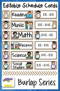 Looking to create a visual classroom display of your daily schedule? This editab. Kindergarten Schedule, Classroom Schedule, Classroom Jobs, Kindergarten Classroom, Class Schedule, Daily Schedule Cards, Toddler Schedule, Behavior Cards, After School Routine