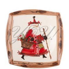 Vietri, Old St. Nick Square Platter at YOU! Boutiques #vietri #youboutiques #christmas #santa #platter #cookie #winter