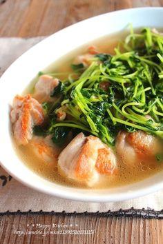 優しい味*鶏肉と豆苗のあっさり和風だし煮