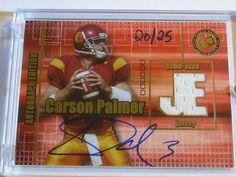 2003 Press Pass JE CARSON PALMER AutoGraph Jersey Rookie Card RC GOLD #20/25 USC #ArizonaCardinals