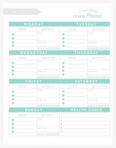 """Set yourself up for success and become a healthier """"you"""" with this free printable fitness planner."""