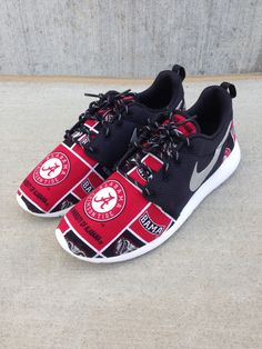 "Custom Nike Roshe One ""Alabama Roll Tide"" / Customs x Cario"