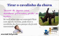Português para todos: Tirar o cavalinho da chuva