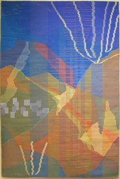 Fiber Art-Tapestry-Patricia Dunn: Zacatecas 5. Cerro del Grillo. Tiempo Seco. Nacimiento / Dry Season. Birthplace.