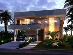 New house architecture masterplan ideas Villa Design, Facade Design, Minimalist House Design, Modern House Design, Plan Ville, Pool House Decor, Dream House Interior, House Elevation, Facade House
