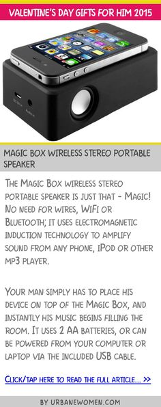 Valentine's day gifts for him 2015 - Magic Box wireless stereo portable speaker