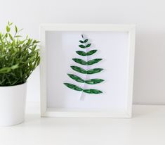 Unique Green Fern Leaf Wall Art Framed Quilling Wall Decor Jungle Home Decor Green Leaves Art Boho Home Simple Design Plant Lovers Tropical Leaf Wall Art, Leaf Art, Framed Wall Art, Baby Room Art, Quilling Techniques, Paper Artwork, Home Decor Wall Art, Fern, Art Forms