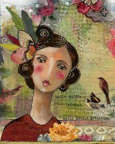 kelly rae roberts | hello gentle gratitude | art print