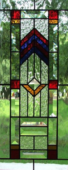 David's Door Panel - Stained Glass Transoms - Dean's Stained Glass