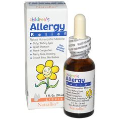 NatraBio, Children's Allergy Relief, Non-Alcohol Formula, Liquid, 1 fl oz ml) Flu Symptoms, Allergy Symptoms, Cold And Flu Relief, Teething Relief, Kids Allergies, Watery Eyes, Nasal Congestion, Allergy Relief, Homeopathic Medicine