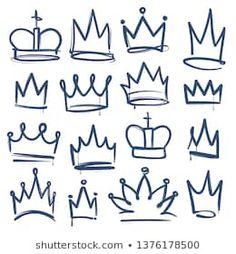 virus background corona dibujo Similar Images, Stock Photos amp; Vectors of Crown logo graffiti icon. Black elements isolated on white background. Graffiti Designs, Graffiti Art, Wie Zeichnet Man Graffiti, Graffiti Lettering Alphabet, Graffiti Words, Graffiti Drawing, Graffiti Styles, Queen Drawing, Crown Drawing