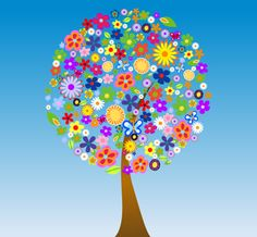 More than 125 pieces of Spring Clip Art without watermarks: Best clip art by graphic artists with spring word art, spring flowers, trees, butterflies & animals. Vector Trees, Vector Flowers, Flower Clipart, Color Song For Kids, Color Songs, Spanish Colors, Free Vector Clipart, Vector Graphics, Clip Art