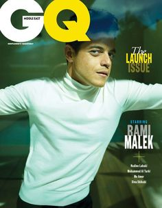 """""""Bohemian Rhapsody"""" star Rami Malek covers the first issue of GQ Middle East magazine photographed by Peggy Sirota. GQ Middle East will be Gq Magazine Covers, Magazine Man, Rami Said Malek, Rami Malek, The Middle, Middle East, Celebrity Gallery, Fashion Story, Moda Masculina"""