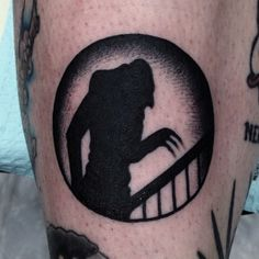 Nosferatu tattoo. I would never get this, but its so cool.