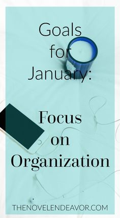 I am excited to get 2016 off to a great start with a few goals aimed at organization and de-cluttering! What is your focus for January? - The Novel Endeavor