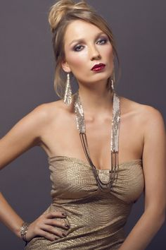 Long gold necklce gols and black brass long necklace by Miryam24K, ₪313.72
