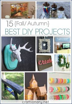 15 Best DIY Projects (Fall/ Autumn), DIY and Crafts, 15 Best DIY Projects for Fall that can last through winter/Holiday Season also. Diy Projects For Fall, Fall Crafts For Kids, Crafts For Teens, Diy Craft Projects, Save On Crafts, Diy And Crafts, Pinterest Diy Crafts, Paper Daisy, Budget