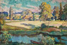 Enn Kunila's art collection / August Jansen (1881-1957), Landscape with River, 1940s