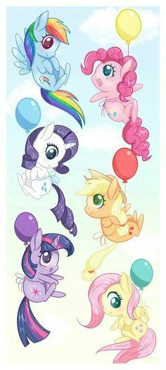 Little pony Arte My Little Pony, My Little Pony Birthday, My Little Pony Party, Mlp My Little Pony, My Little Pony Friendship, My Little Pony Drawing, Rainbow Dash, Chibi, Twilight Sparkle