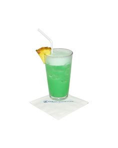 Big Game #Cocktail - The Beast: Pour 0.75 oz. white rum, 0.75 oz. vodka, 0.5 oz. Blue Curacao, 3 oz. pineapple juice and 1 oz. house sour into a shaker filled with ice. Shake and pour into a pint glass. Garnish with a pineapple wedge.