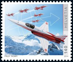 Swiss special stamps: 100 years Swiss Air Force - «F-5 Tiger» www.postshop.ch/philatelie
