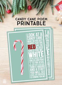 This Candy Cane Poem is a lovely reminder of the true reason for the season! Free printable at livel Christmas Poems, Christmas Candy, Christmas Holidays, Christmas Service, Christmas Carnival, Preschool Christmas, Christmas Music, Christmas Traditions, Christmas Wreaths