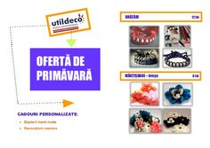Oferta de primavara Util Deco by Fundatia Alaturi de Voi Romania via slideshare Gifts, Shopping, Presents, Favors, Gift