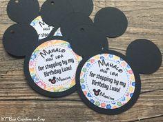 Hawaiian Mickey Mouse Favor Tags  Tropical Mickey Party
