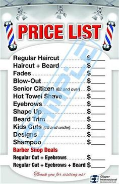 Barber shop price list Barber poster Barber by BarberPosters