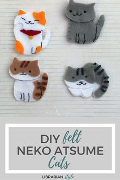 felt neko atsume cats craft: