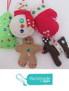 Felt Christmas Ornaments - Set of 5 from Georgetown Cottage Crafts http://www.amazon.com/dp/B018DCI724/ref=hnd_sw_r_pi_dp_-MNuwb1ABTQYF #handmadeatamazon