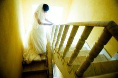 Wedding dress on beautiful bride