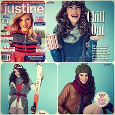 Kensie sweaters are taking over the Justine magazine winter layer spread! Clockwise from top right: Kensie sweater, Kensie sweater, Kensie cardigan. All available now