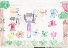 ■■■会津若松市立一箕小学校/2年生/女の子■■■ 【作品タイトル】会津レクレーション公園で虫とり【伝えたい事】会津には、虫達がたくさんいて、夏休みは毎日きょうだい4人で虫をとっていました。こんな自然が大好きです。