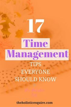 17 Secrets to Mastering Time Management | The Holistic Esquire. GLAD I FOUND THIS POST!!! Time is elusive. Time management is even trickier. We sometimes push things off because we often run out of time. But these 17 time management tips can get to master time management quickly and learn how to use time to your advantage!