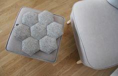poduszki, poszewki, narzuty-filcowa poduszka na krzesło