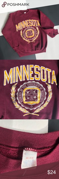 113fc65ae Shop Men s Champion Red Gold size M Crewneck at a discounted price at  Poshmark. Description  Vintage Champion Regents of the University of Minnesota  College ...