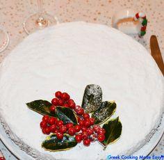 Greek Cooking Made Easy New Year's Desserts, Greek Desserts, Greek Recipes, Dessert Recipes, Greek Meals, Greek Cake, Eat Greek, Greek Christmas, New Year's Cake
