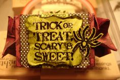 Halloween candy wrapper