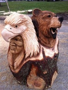 angel chainsaw carvings | Native American Chainsaw Carving rustic-originals-and-limited-editions