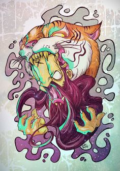 TIGERPOWER by zookrupula , via Behance