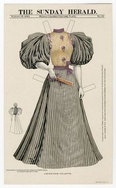 75.2333: Ladies ' Demi-Toilette | dress | Paper Dolls | Dolls | National Museum of Play Online Collections | The Strong