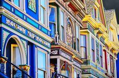 Row Of  Victorian House In Haight-Ashbury, San Francisco  www.mitchellfunk.com