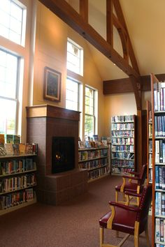 Come sit by our cozy fireplace and read a good book (or two)!