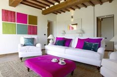 #Italy means #Colours, like in this #livingroom