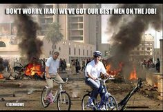 Finally - boots on the ground (or is it bikes?). Be a patriot & enlist in our army at http://USFREEDOMARMY.COM.
