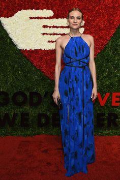 Diane Kruger hermosa con este este vestido azul.