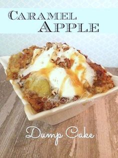 Caramel Apple Dump Cake Recipe. This is probably the easiest, and most delicious dump cake recipe you'll find! It's so easy even your kids can make it!